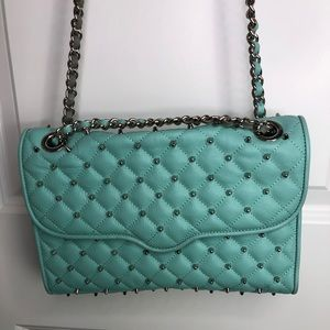 NWT Rebecca Minkoff Teal with Grey Studs Purse